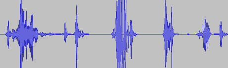 Waveform of recorded call